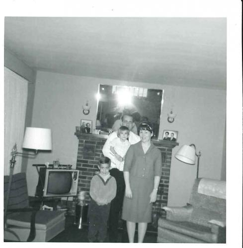 Photo in the Thomas's front room