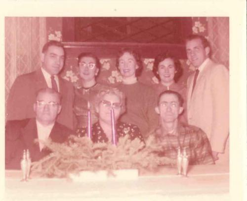 Mom & Dad, Fred & Mary, Joanne, Frank, and Dad's parents