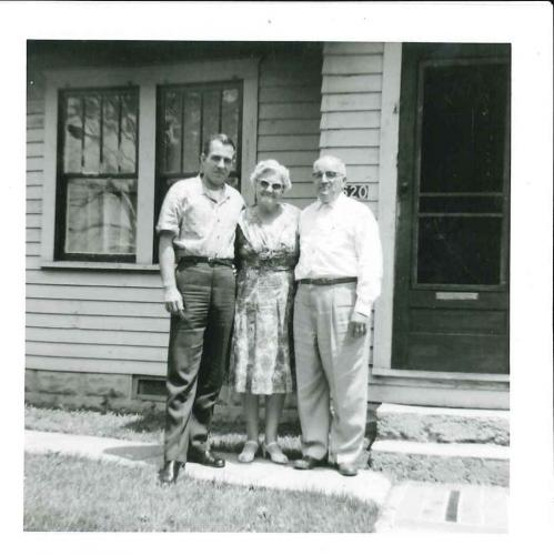 Dad with his parents
