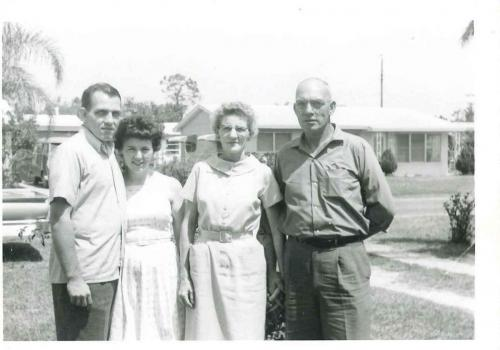 Mom & Dad with his brother Bill and his wife Bessie