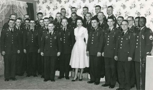 US Army Men's Chorus (dad above and to right of lady)