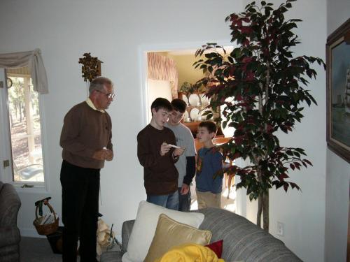 On one of Gpa's Christmas Gift Hunts (12/03)