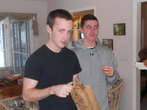 Kevin & Eric on the hunt for a Cmas gift from GPa (12/10)