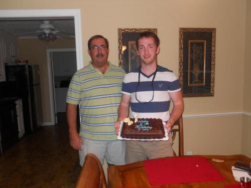 With Kevin on his 21st (7/11)