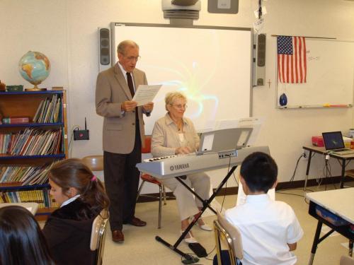 Dad & Beth Singing at school (10/10)