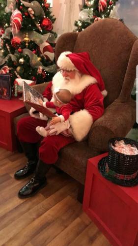 Listening to Santa read