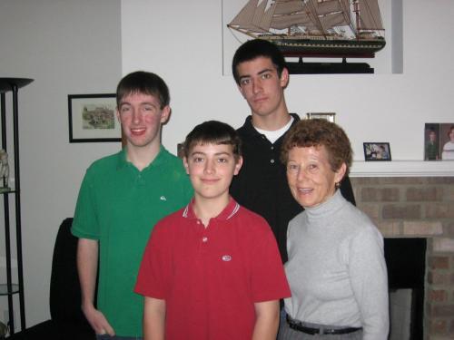 February Break in NC - mom and the boys (2/08)