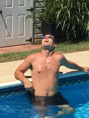 Eclipse viewing from the pool! (8/17)
