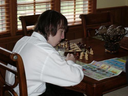 Sunday Chess/Comics before church (7/05)