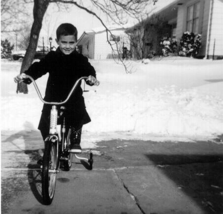 Christmas bike – nowhere to ride.