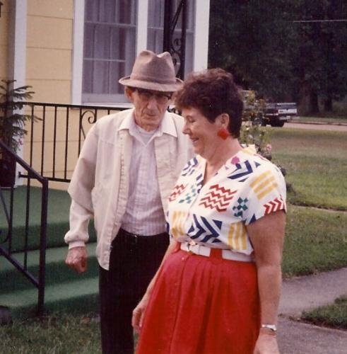 Mom and her Dad, Frank Crawford