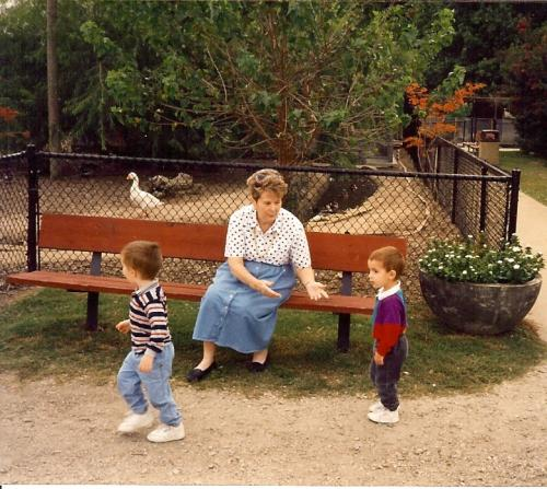 Mom with Kevin & David