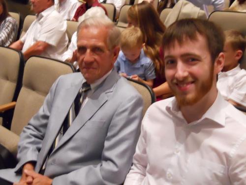 With Grandpa @ Eric's PHS Graduation (6/13)