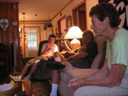 Graduation Party with Grandparents (6/08)